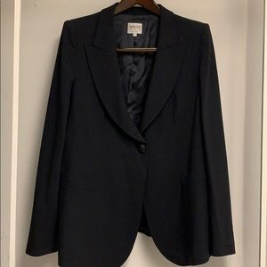 Armani Collezioni Black wool tuxedo jacket Sz16